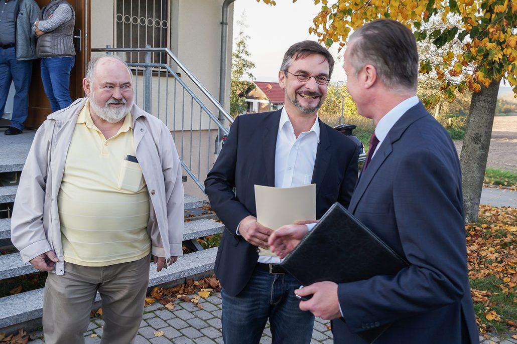 Innenstaatssekretär Udo Götze in Bad Salzungen/ Kaltenborn