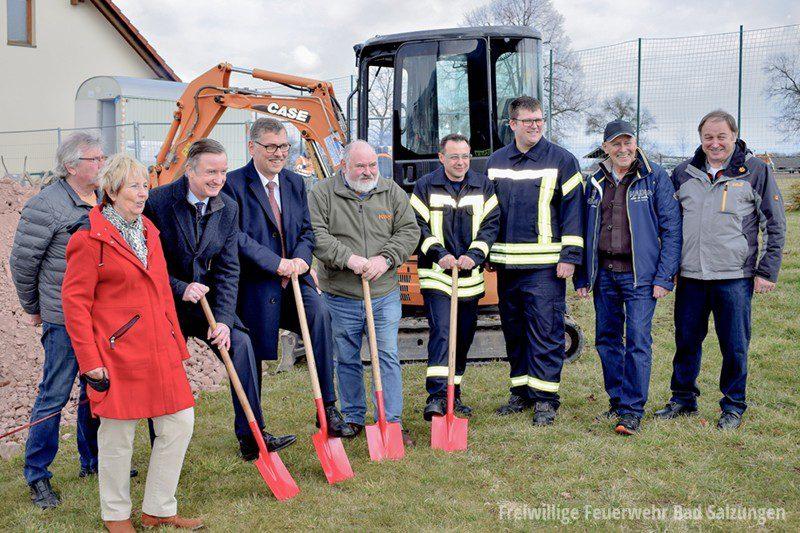 Spatenstich zum Neubau des Gerätehauses in Kaltenborn