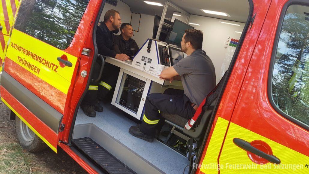 Einsatzzug II WAK beim Waldbrand in Plaue   Feuerwehr Bad Salzungen