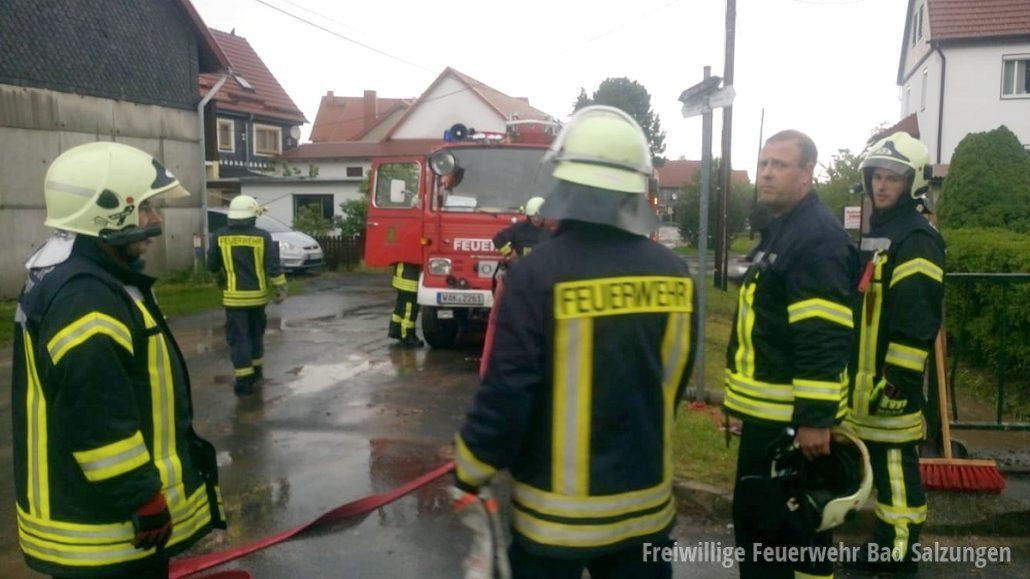 Unwetter über Bad Salzungen und Ortsteilen, Feuerwehren im Dauereinsatz!