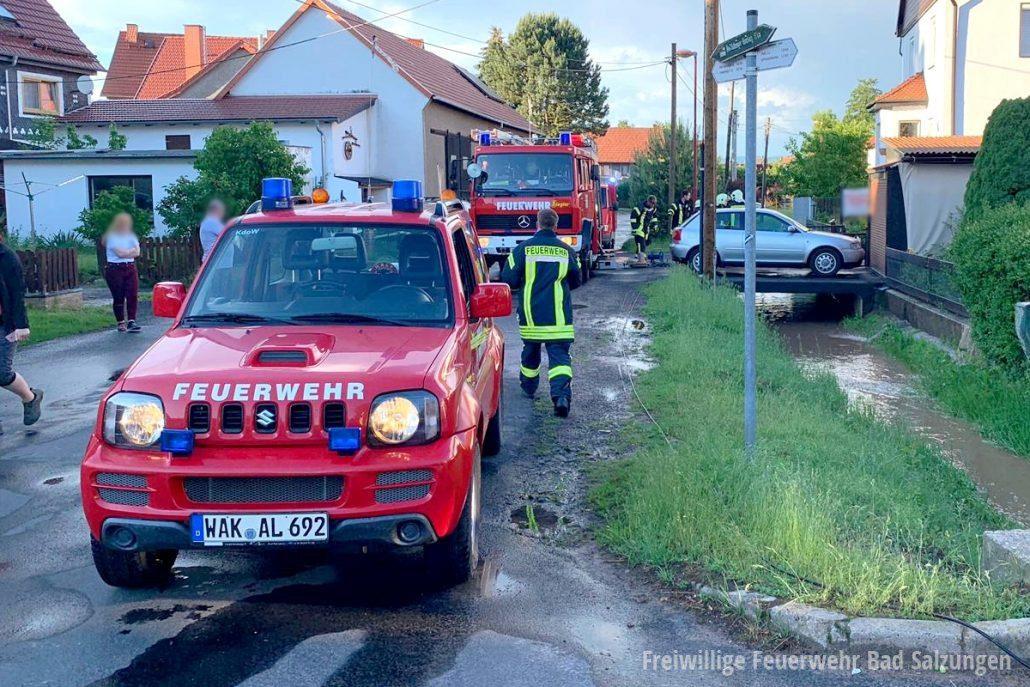 Unwetterschäden nach Gewitter in Langenfeld
