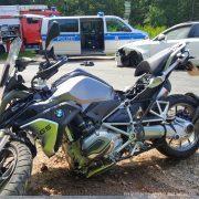 Verkehrsunfall - Motorrad gegen Pkw!
